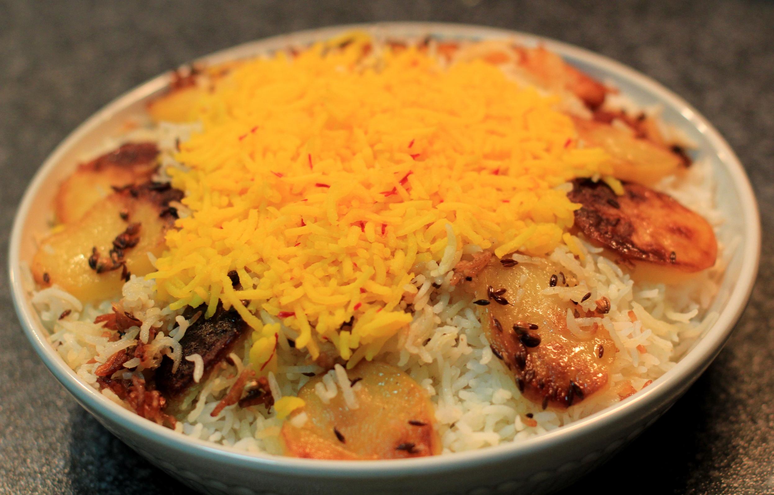 Chelo Kebab And Iranian Rice Bombay Howrah Dining Car