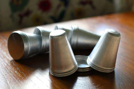 Aluminium kulfi moulds