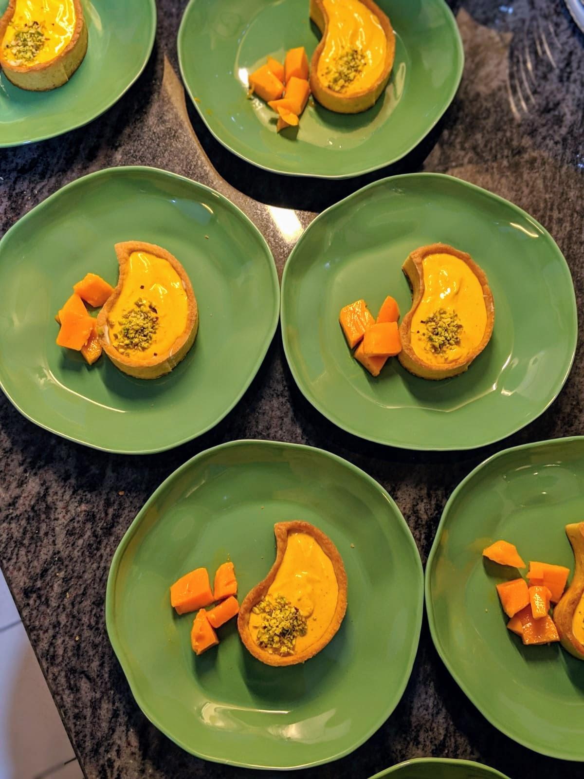 Mango Shrikhand Tarts