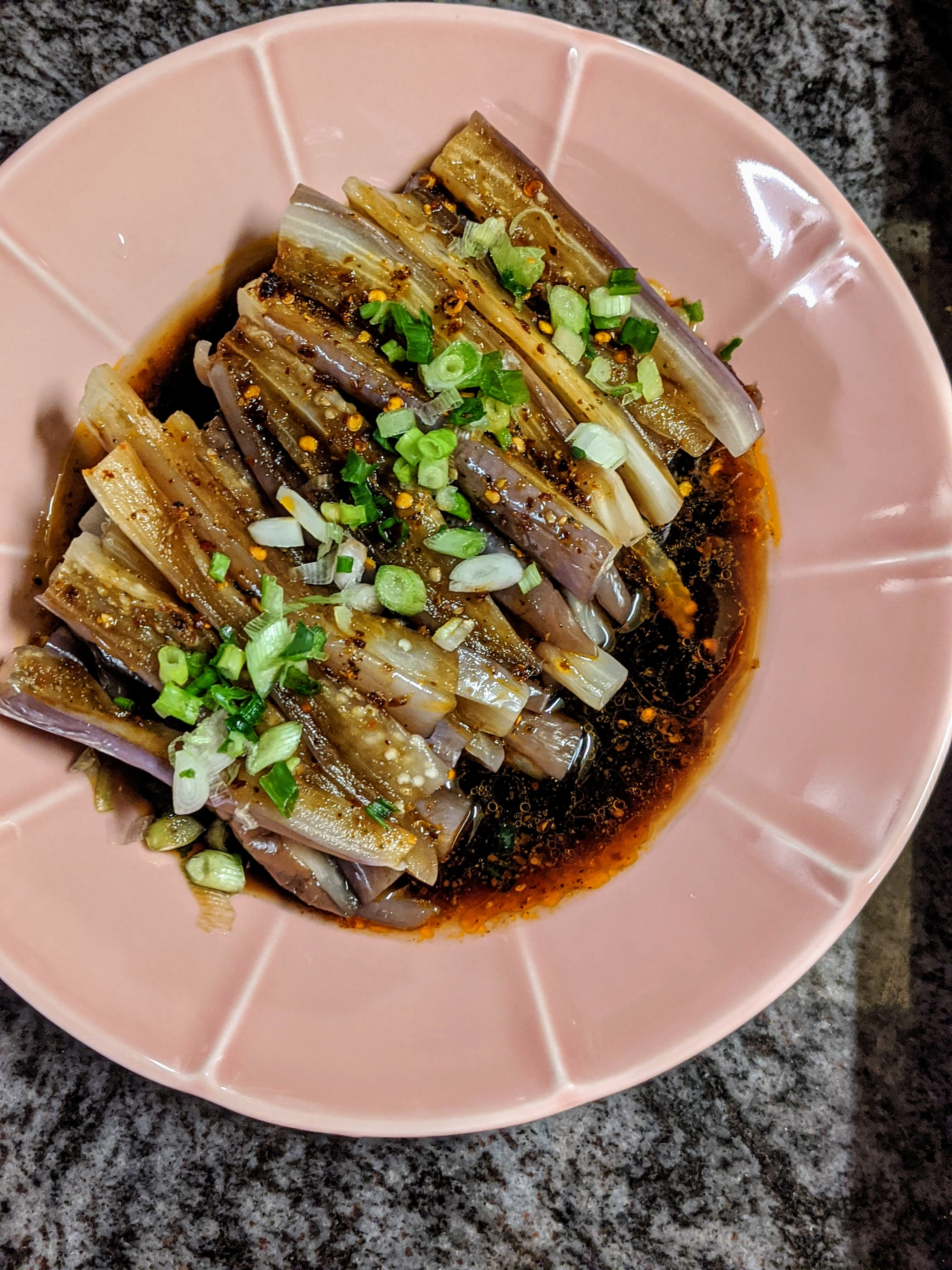 Steamed Eggplants with Sichuan Sauce